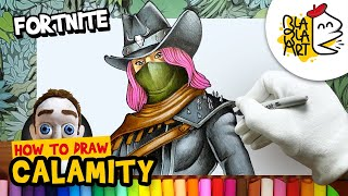 HOW TO DRAW CALAMITY Skin | Fortnite Battle Royale Characters Drawing | BLABLA ART