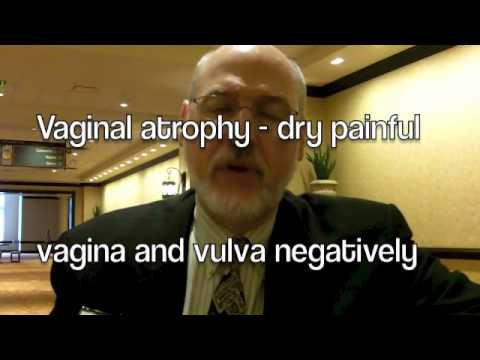 vaginal atrophy related to menopause Q: can you tell me about vaginal atrophy you're talking about changes that occur in the vagina as women age these changes become more pronounced after menopause.