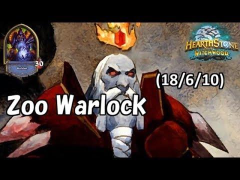 [Hearthstone] Zoo Warlock No Commentary(2018/6/10)