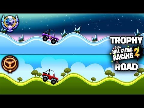 HILL CLIMB RACING 2 NEW TROPHY ROAD