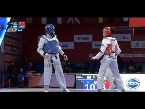 Wuxi 2018 World Taekwondo Grand Slam -49kg FEM Nahid KIYANICHANDEH(IRI) vs Tijana BOGDANOVIC(SRB)