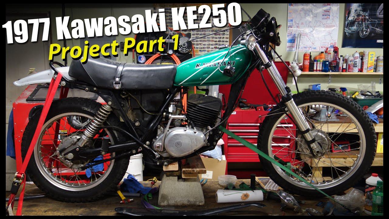 hight resolution of 1977 kawasaki ke250 part 1