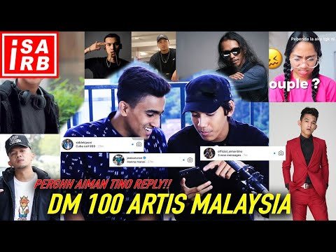 DM 100 ARTIS MALAYSIA! ( Atta Halilintar Reply??? ) - Isa Isarb ft. Kepengsss