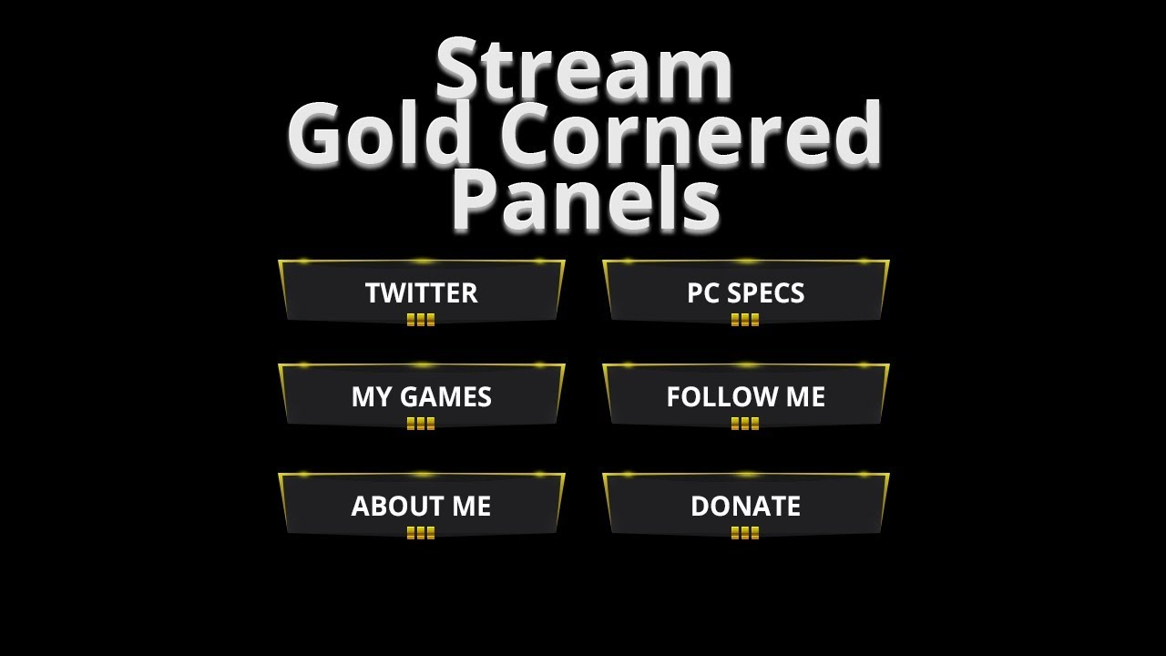 free twitch panels gold