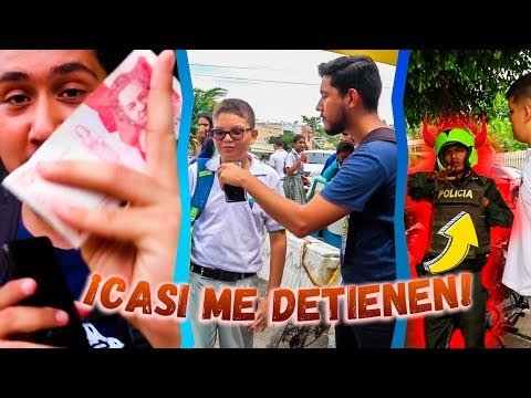 Voy a REGALAR DINERO a una Escuela de RICOS y llega la POLICÍA  | Luis Vega