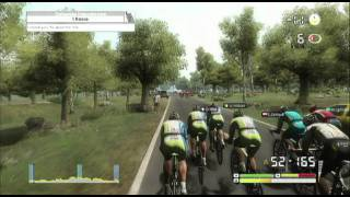 Tour De France 2011 - PS3 Gameplay - Breakaway reeled in by teamwork.