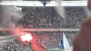 MSV Duisburg-Schalke 04 pyro