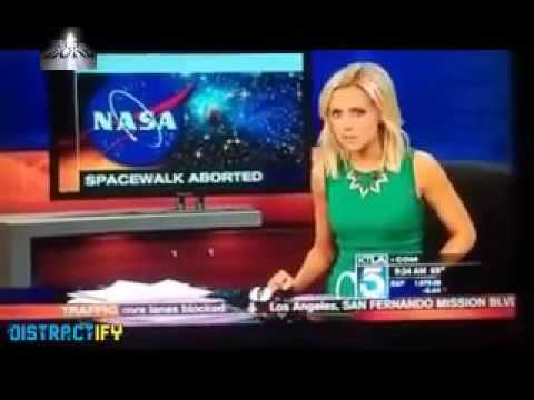News Crew Accidentally films FAKE space station footage