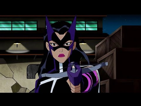 The Huntress - All Fight Scenes | Justice League Unlimited