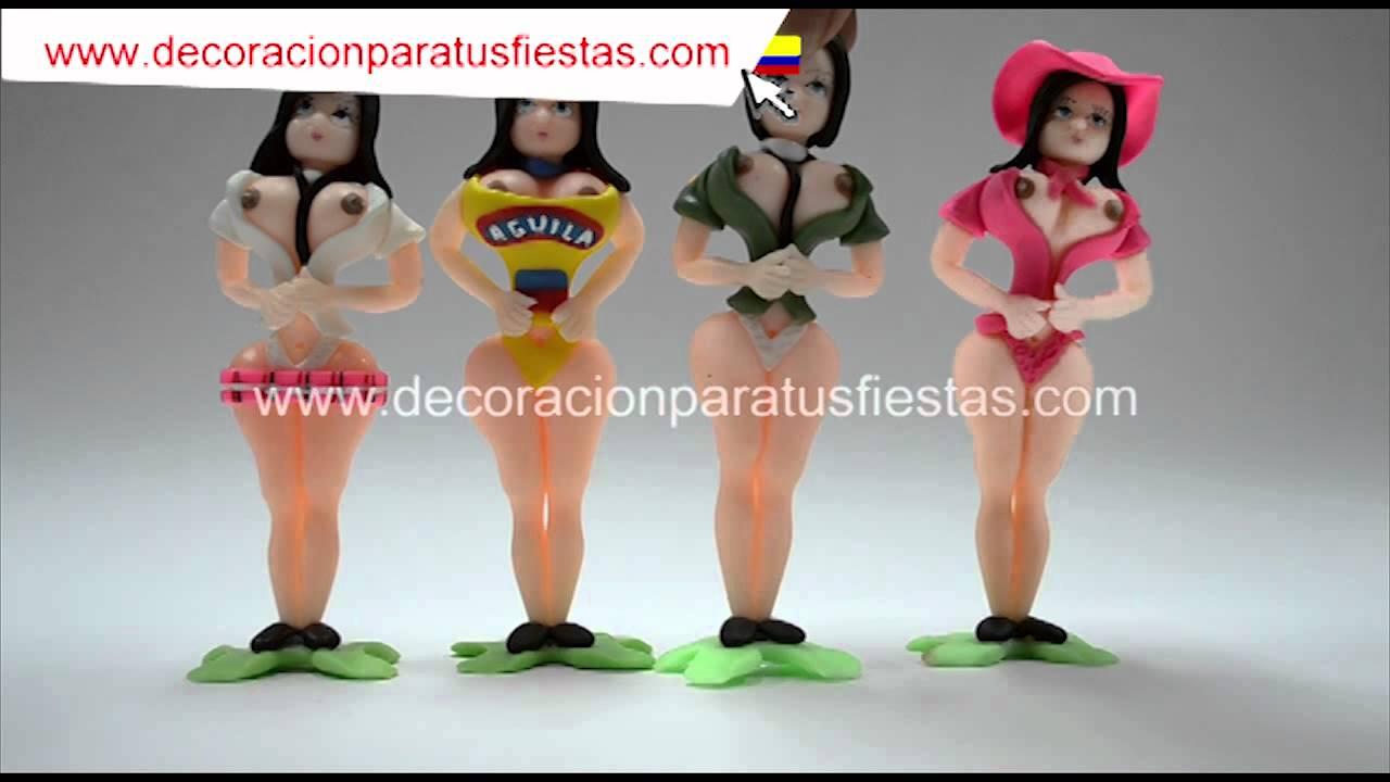 Velas De Mujer Voluptuosa Para Torta De Cumpleaños Adulto