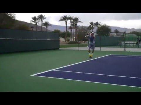 Juan Monaco Practice Point Indian Wells BNP Paribas Open 2013