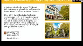 Cambridge Judge Business School | Digital Disruption: Digital Transformation Strategies Webinar