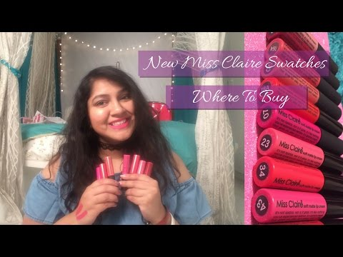 New Miss Claire Soft Matte Lipcreams Swatches | Where to buy online & in Hyderabad |Priyanka Boppana