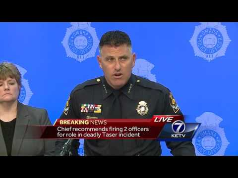 Police chief recommends 2 officers to be terminated following in-custody death