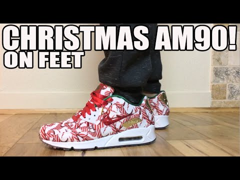 Nike Air Max Christmas Gift Wrap Pack On Feet Review