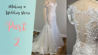 DIY Wedding Dress | Lets make a wedding dress with lace appliques 2