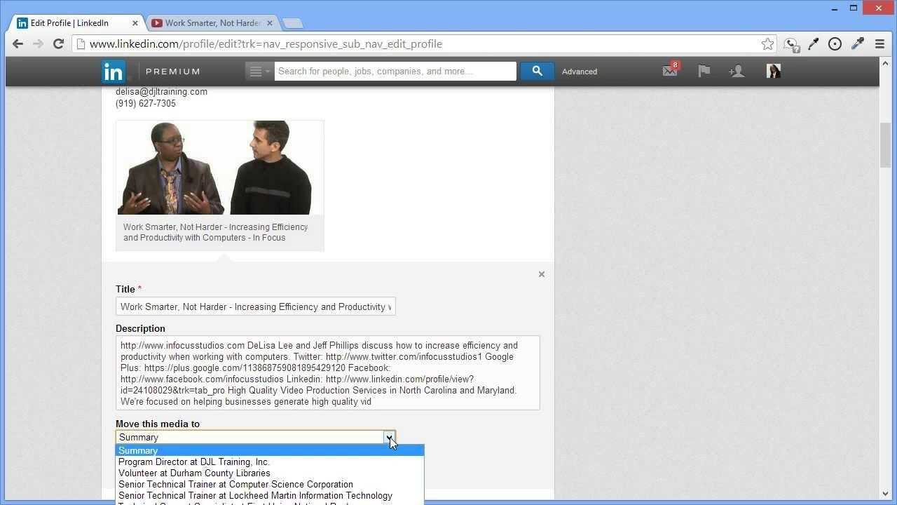 Add Youtube Video To Linkedin Profile Youtube