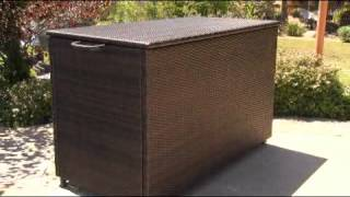 Blake Wicker 290-gallon Deck Box