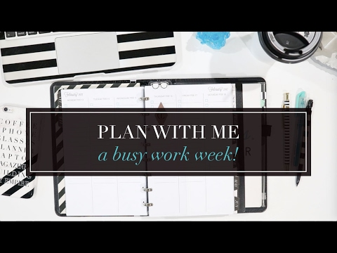 Plan with Me for a Busy Work Week | Pen & Paper Functional Planning