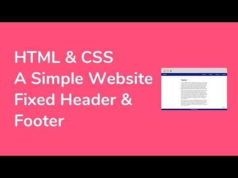 How to Create a Simple Website (TypeB : Fixed Header & Footer) with HTML, CSS, and jQuery