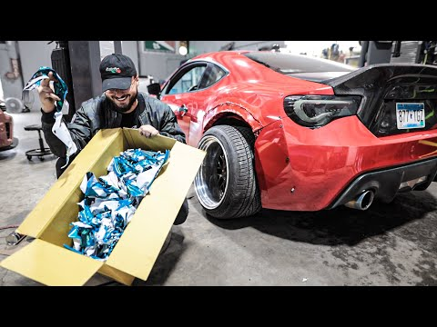 Pulling the Wrap off the FRS to reveal Perfect Paint!