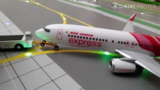 Air India Express COVID-19 Evacuation Flight Takeoff from 1:200 Model Airport