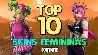 FORTNITE-TOP 10 MOST BEAUTIFUL FEMALE SKINS!