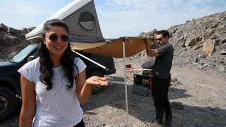 Adam and Maggie demo the usage of their ARB 2000 awning and room. A...
