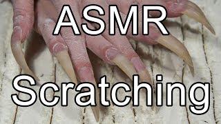 ASMR nail scratching wood long natural claws nails