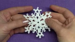Sněhová vločka háčkem - Снежинка Крючком