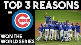 Top 3 Reasons Why The Cubs Won The World Series