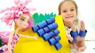 Видео для девочек 👗 Поделки своими руками из бумаги 👌 Игры для детей с #МонстерХай