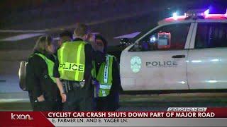 Cyclist hit by car in north Austin