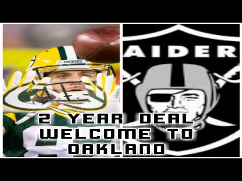 JORDY NELSON SIGNS 2 YEAR DEAL WITH THE OAKLAND RAIDERS