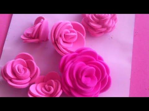 a65ca9cc6eb Como hacer rosas de Fomi