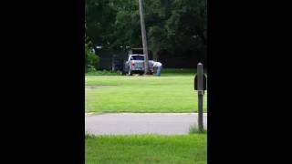 New! Must See! Tree falls on truck tree cutting fail