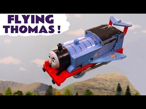 Thomas The Tank Engine Saves The Day with a Flying Rescue like Superman and Avengers Iron Man TT4U
