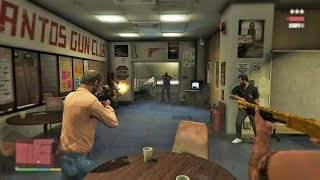 GTA 5 - Franklin, Michael and Trevor Five Star Escape From AMMU NATION # 17