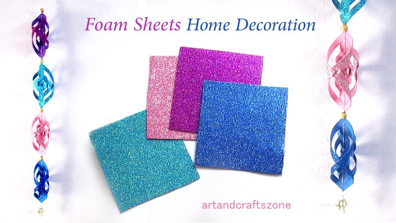 Diy room decor with foam sheets home decoration idea for Fomic sheet decoration youtube
