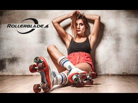 Rollerblade. Georgian girl in Kyiv