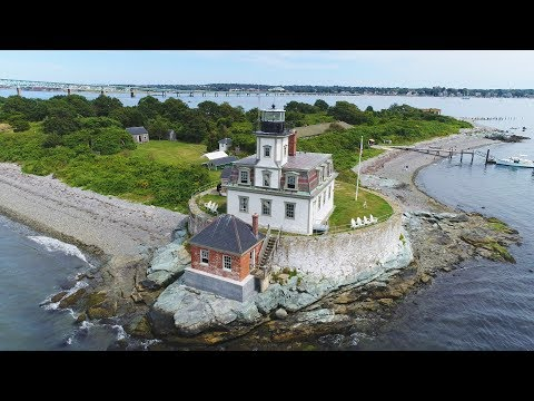 Drone Exploration of Rose Island, Newport, RI (DJI Phantom 4 Pro) [4K]