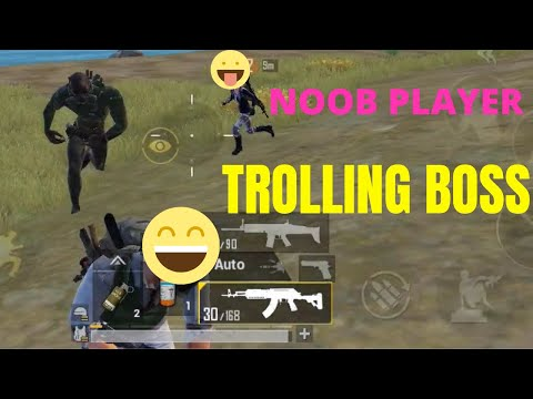 Noob Player Trolling Boss | PUBG Mobile | Funny Moments | Funny Gamer Team
