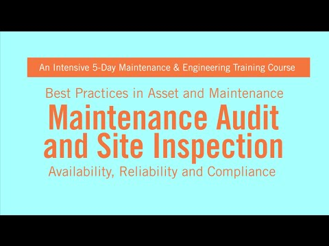 Maintenance Audit And Site Inspection