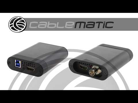 Capturadora audio vídeo SD-SDI HD-SDI 3G-SDI y HDMI a USB 3.0 - distribuido por CABLEMATIC ®
