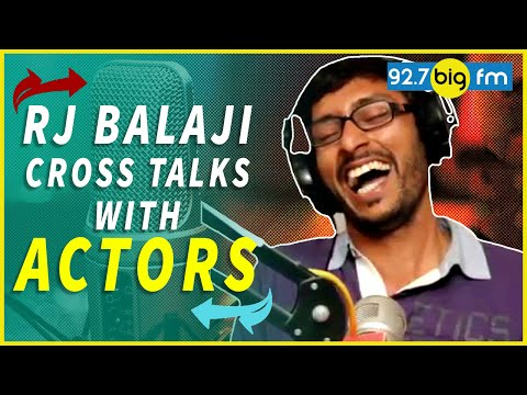 Rj Balaji Cross Talks With Actors