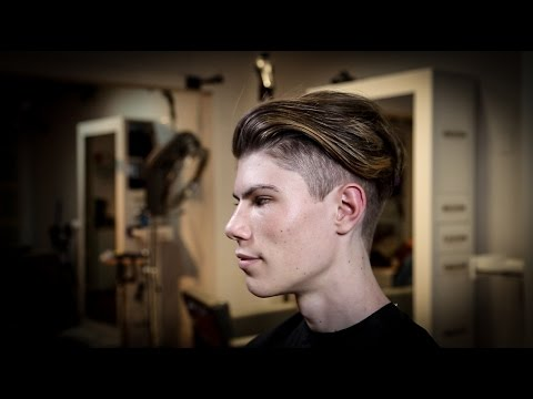 Mens Tapered Haircut With Disconnected Top Mens Balayage Hair