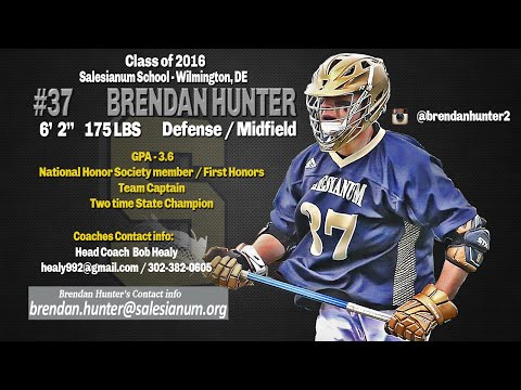 Brendan Hunter 2016 Highlights, Salesianum School