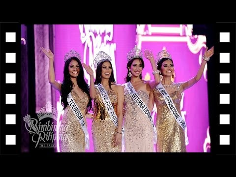 Bb Pilipinas 2014 Farewell Walk of Gold Queens 9/10[Good Quality]