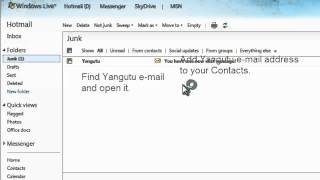 Why Yangutu mail is not delivered to my LIVE.com inbox.