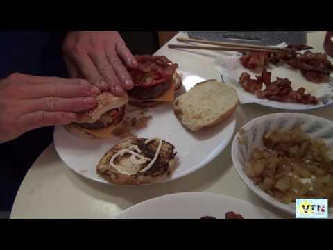 Ăn đồ Mỹ nấu ở nhà  hamburger